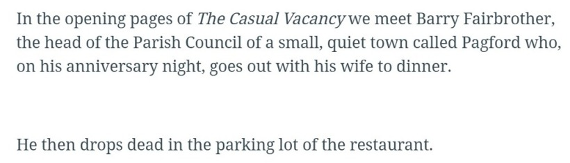 Screenshot of 'The Casual Vacancy' reader review • Hypable (1)