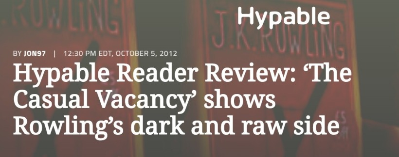 Screenshot of 'The Casual Vacancy' reader review • Hypable