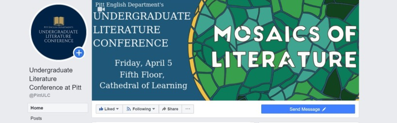 Screenshot of Undergraduate Literature Conference at Pitt - Home